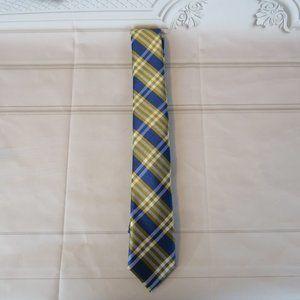Nordstrom 100% Silk Blue Plaid Narrow Tie